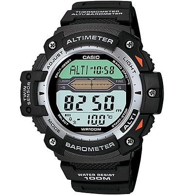 Casio® SGW300H-1AV Men's Digital Twin Sensor Sport Chronograph Wrist Watch, Black