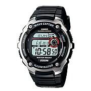 Casio® WV200A-1AV Men's Digital Waveceptor Atomic Chronograph Alarm Wrist Watch; Black
