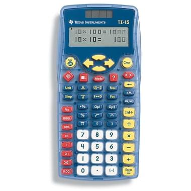 Texas Instruments TI15TK Calculator Teacher Kit, Blue