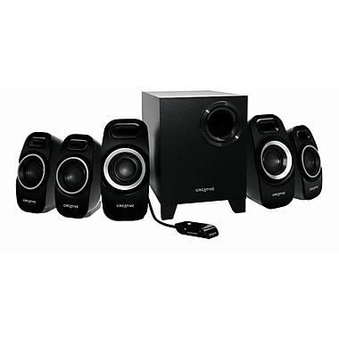 Creative® Labs Inspire T6300 57 W 5.1 Surround Speaker System For Gaming, Black
