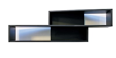 Nexxt FN17217-5INT Luca Black Angled Wall Shelf