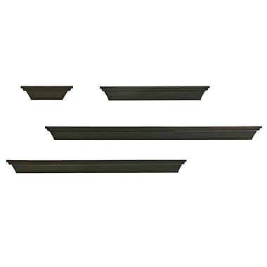 Nexxt Contoured Multilength Ledge Shelves, Set of 4, Black