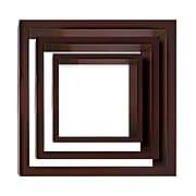 Nexxt PN09424-8INT Set of 3 Brown Wooden Cubby Wall Shelf