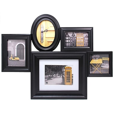 Nexxt Heritage 5 Picture Collage Frame, Black
