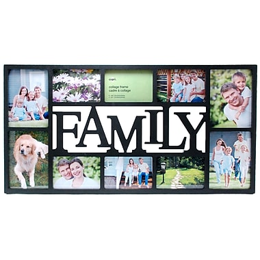 Nexxt Family 10 Picture Collage Frame, Black