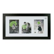 "Nexxt Langford Wood 3 Picture Collage Frame, 10"" x 20"", Black"