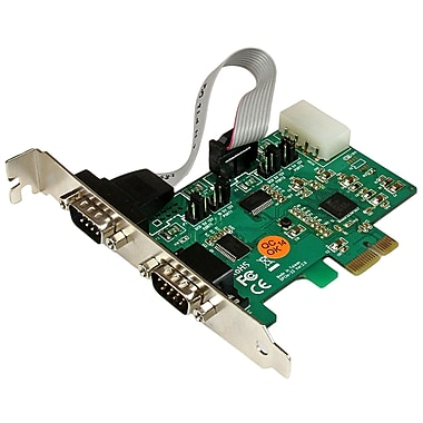 StarTech.com 2-Port Industrial PCI Express RS232 Serial Card with Power and ESD