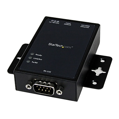 StarTech.com 1-Port RS232 Serial to IP Ethernet Converter/Device Server, Aluminum