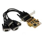 StarTech.com – Carte Contrôleur PCI Express avec 4 Ports Série RS232 DB9 Sortie d'Alimentation Protection ESD