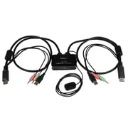 StarTech.com 2-Port USB Display-Port® Cable KVM Switch with Audio and Remote Switch