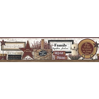 Inspired By Color™ Country & Lodge Friends and Family Shelf Border, White With Off White