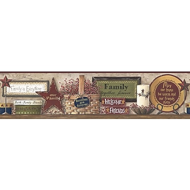 Inspired By Color™ Country & Lodge Friends and Family Shelf Borders