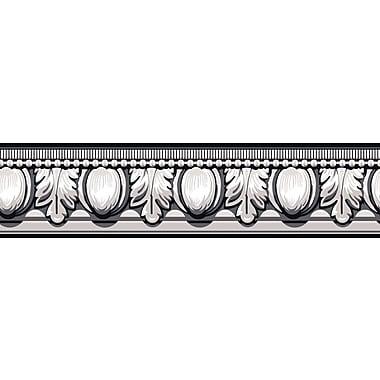 Inspired By Color™ Black & White Egg Dart Border, Black With White
