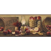 Inspired By Color™ Borders Apple Basket Border, Beige With Dark Red