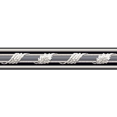 Inspired By Color™ Black & White Architectural Border, Black With White