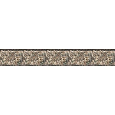 Inspired By Color™ Country & Lodge Two Kings Border Wallpaper, Brown With Green