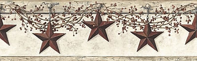 Inspired by Color™ Borders Hanging Star Border, Off White With Khaki