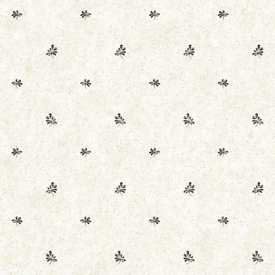 Inspired By Color™ Black & White Pottery Geometric Spot Wallpaper, Beige With Black
