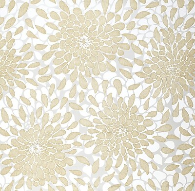 Inspired By Color™ Metallics Toss The Bouquet Wallpaper, Gold Glitter With White/Gray