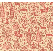Inspired By Color™ Orange & Yellow Scenic Woodland Wallpaper, Orange With Beige/Pink