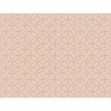 Inspired By Color™ Pink & Purple Lacey Circle Geo Wallpaper, Soft Pink With Dark Pink