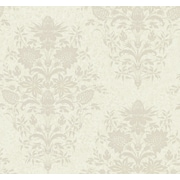 Inspired By Color™ Pink & Purple Small Scrolly Vine Wallpaper, Purple With Pearl