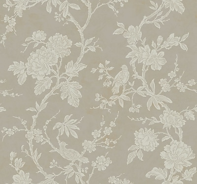 Inspired By Color™ Metallics Arlington Wallpaper, Silver Metallic With Off White