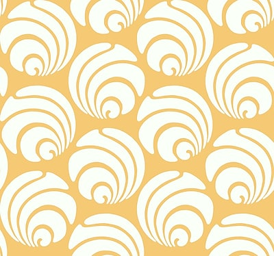 Inspired By Color™ Orange & Yellow Large Swirl Geo Wallpaper, Yellow With White