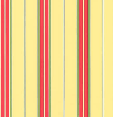 Inspired By Color™ Orange & Yellow Bay Stripe 1 Wallpaper, Yellow With Red/Green