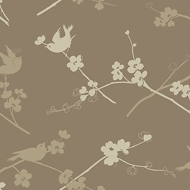 Inspired By Color™ Metallics Cherry Blossoms Wallpaper, Gold With Beige/Cream