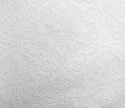 Inspired By Color™ Black & White Patent Decor Paintable Damask Wallpaper, White