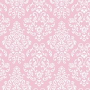 Inspired By Color™ Pink & Purple Delicate Document Damask Wallpaper, Pink