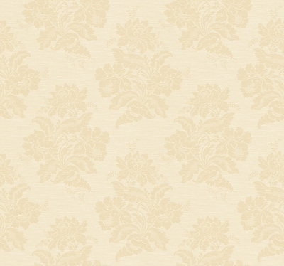 Inspired By Color™ Orange & Yellow Two Tone Damask Wallpaper, Cream With Gold