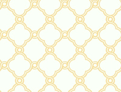Inspired By Color™ Orange & Yellow Open Trellis Wallpaper, Yellow With White