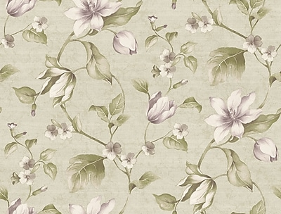 Inspired By Color™ Pink & Purple Tulip Floral Wallpaper, Silver Metallic