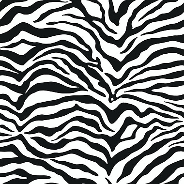 Inspired By Color™ Black & White Zebra Skin Wallpaper, White With Off White