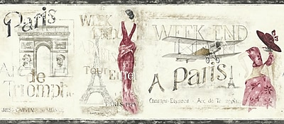 Inspired By Color™ Borders Weekend in Paris Border, Cream/Red/Gray/Tan