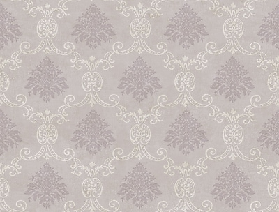 Inspired By Color™ Pink & Purple Document Damask Wallpaper, Dark Purple