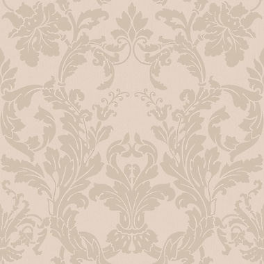 Inspired By Color™ Pink & Purple Acanthus Damask Wallpaper, Light Mauve