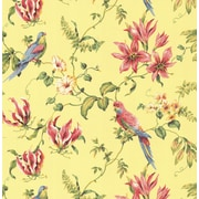 Inspired By Color™ Orange & Yellow Birds Wallpaper, Yellow With Pink/Green