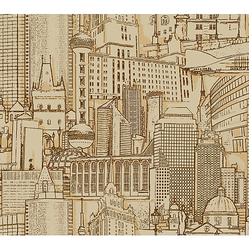 Inspired By Color™ Metallics Great Expectations Wallpaper, Brown With Gold
