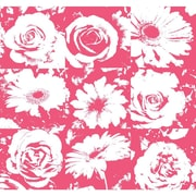 Inspired By Color™ Pink & Purple Petal Pusher Wallpaper, Purple With White