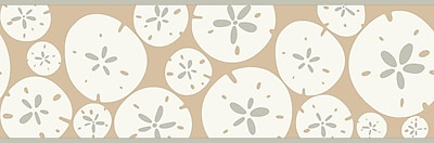Inspired by Color™ Borders Sand Dollar Border, Tan With White/Silver Glint