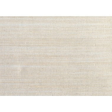 Inspired By Color™ Grasscloth Sisal Wallpaper, Silver Metallic With Sisal