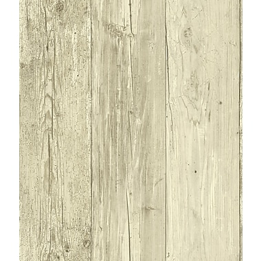 Inspired By Color™ Red Wide Wooden Planks Wallpaper, Tan