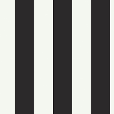 Inspired By Color™ Black & White Hang Silk Stripe Wallpaper, Black With White