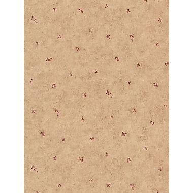 Inspired By Color™ Country & Lodge Mini Berry Spot Wallpaper, Tan With Burgundy