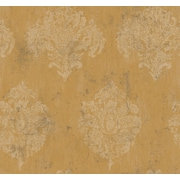 Inspired By Color™ Metallics Chateaux Wallpaper, Dark Yellow With White