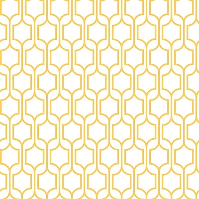 Inspired by Color™ Yellow & Orange Trellis Wallpaper, Yellow With White