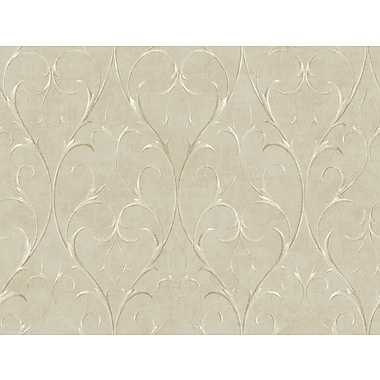 Inspired By Color™ Metallics Delicate Scroll Wallpaper, Light Tan